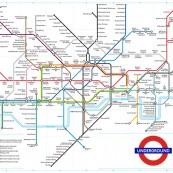 Affiche / Poster «Plan du métro Londres – Couleur»