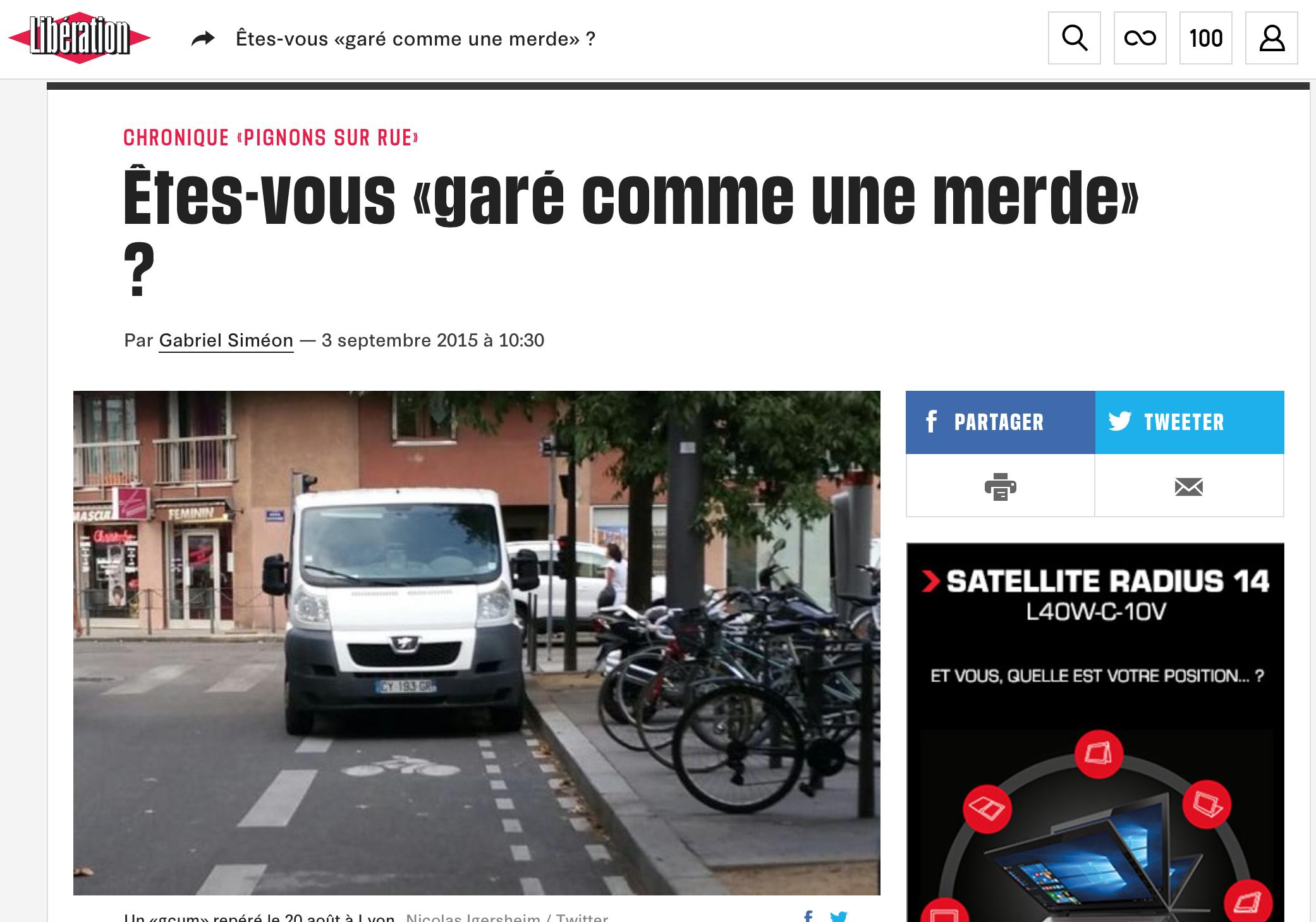 3 septembre 2015 - Libération